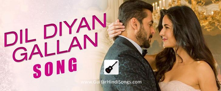 Dil Diyan Gallan | Tiger Zinda Hai | Guitar | Single String