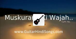 Muskurane Ki Wajah Tum Ho | Guitar | Tabs | Single String